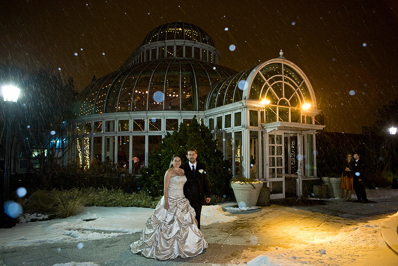 Winter Wedding In The Garden This Couple Shows You How Backyard Huppah