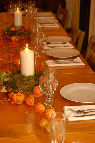 autumn wedding reception table decor