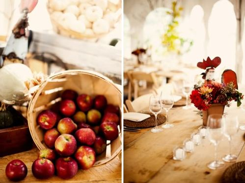 Autumn Wedding Reception Barn