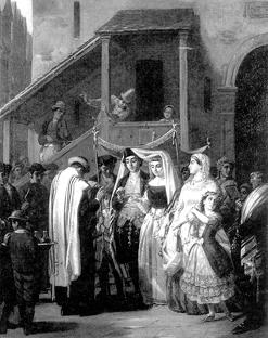 Old jewish wedding