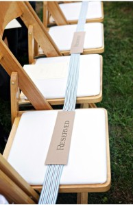 Wedding decor stripes