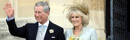 Prince Charles and Camilla at Royal Wedding