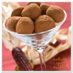 DIY chocolate truffle wedding dessert