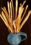 wedding table decor bread sticks