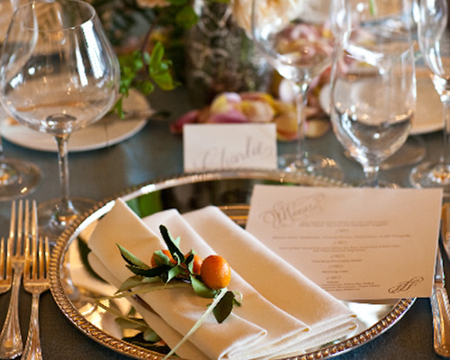 pretty simple wedding tablescape