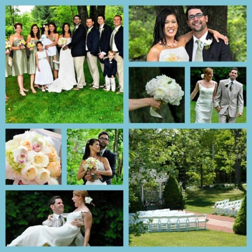 Clay Hill navy and sage wedding collage