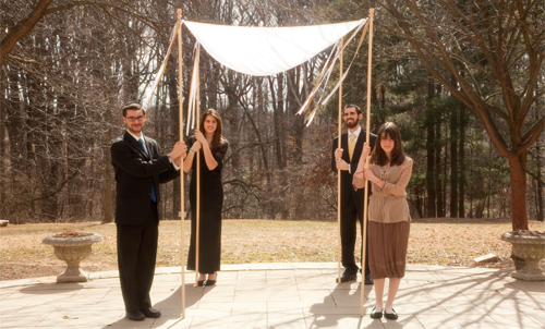 chuppah-decorated-with-ribbons