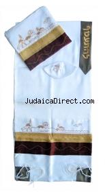 Jerusalem tallit brown