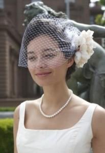 wedding diy birdcage veil
