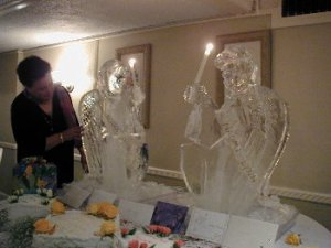 angels with candles ice carving bill bywater