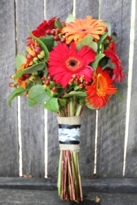 red and orange DIY bouquet fiftyflowers