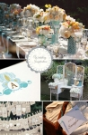 Blue and Creamsicle Wedding Inspiration Board - WeddingWire