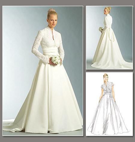 Diy wedding dress in grace kelly style from vogue patterns for Grace kelly inspired wedding dress