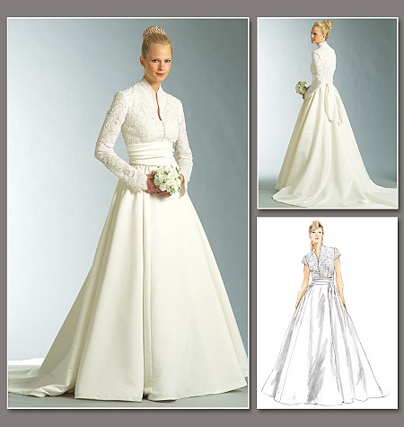 Diy wedding dress in grace kelly style from vogue patterns for How to make a wedding dress pattern