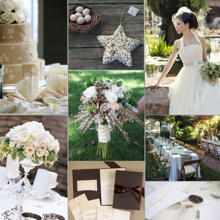 Classic vintage ivory wedding inspiration board backyard for Vintage wedding decorations