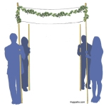 Huppah decorated with garland swags