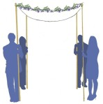 chuppah decorated with garland