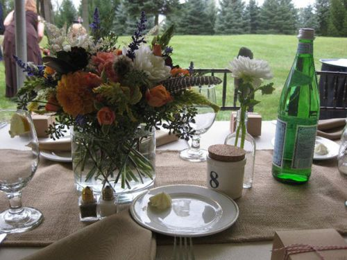 rustic tablescape michigan backyard wedding