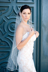 rent wedding veil Justine M. Couture