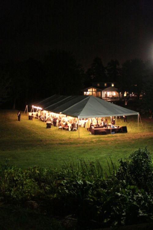 tent reception michigan backyard wedding