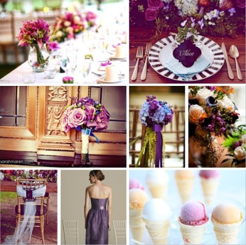 wedding wire-inspiration board purple eggplant