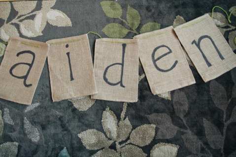 wedding diy shabby chic burlap banner