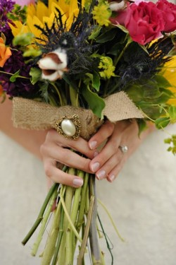Rustic Louisiana Wedding Bridal Bouquet