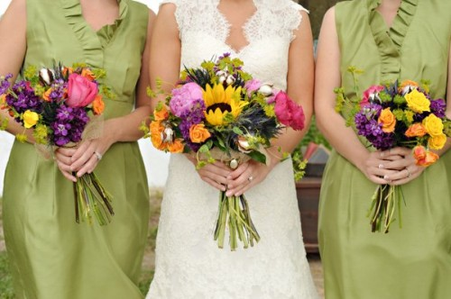 Rustic Louisiana Wedding Bridesmaids dresses