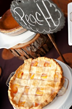 Rustic Louisiana Wedding Peach Pie