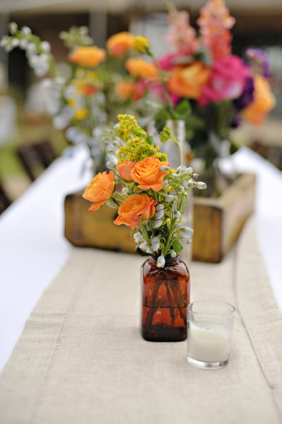 Rustic Louisiana Wedding Table Setting