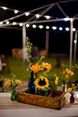 Rustic Louisiana Wedding Tablescape