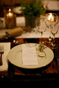 Vermont Winter Wedding Table Setting Cronin Hill Photography