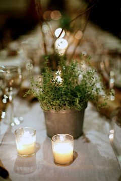 Vermont Winter Wedding Tablescape