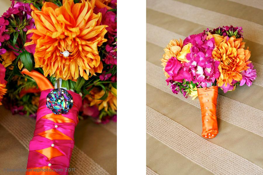 Tangerine and Pink Wedding Decor – Gorgeous! | Backyard Huppah
