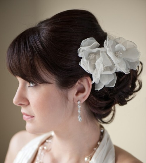 organza bridal headpiece wedding