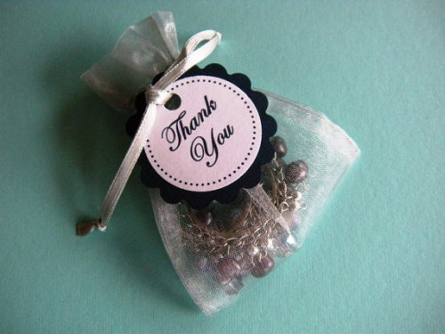organza wedding favor pouches