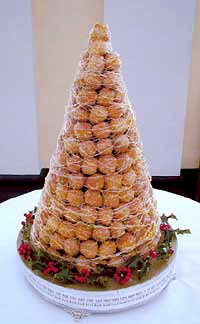 Croquembouche French Wedding Cake