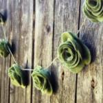 15-Foot Felt Rose Garland