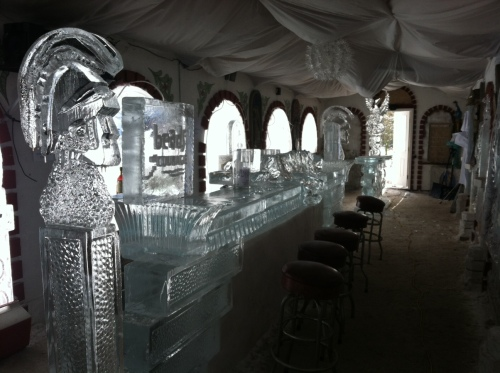 Walk-in ice bar at Damenti's Restaurant, Mountain Top, Pennsylvania
