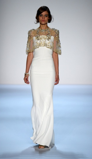 Badgley Mischka Cape New York Fashion Week 2013 Spring 2014