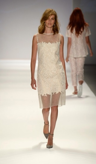 Tadashi Shoji Sleeveless New York Fashion Week 2013 Spring 2014