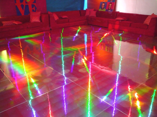 holographic dance floor