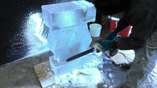 how to ice carving
