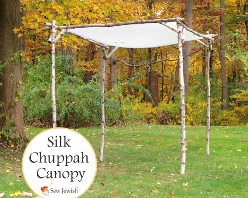 silk huppah canopy