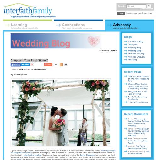 Interfaith Family Wedding Chuppay