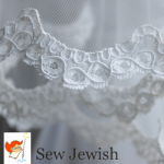 how to sew lace to wedding veil
