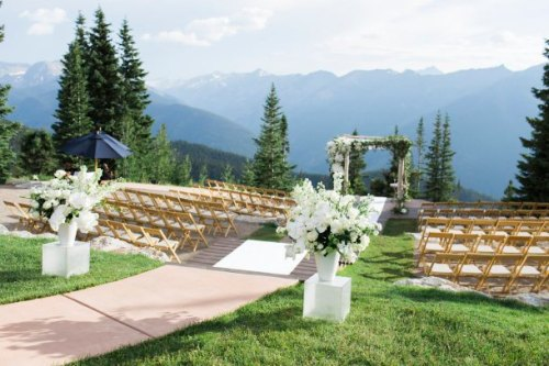 Aspen Colorado wedding chuppah